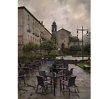 Rainy day at Pontevedra Photographic Print