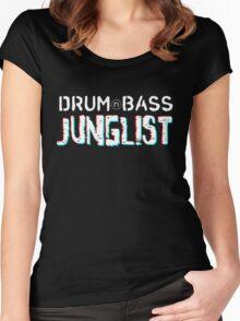 Drum&Bass/Junglist 3D Women's Fitted Scoop T-Shirt