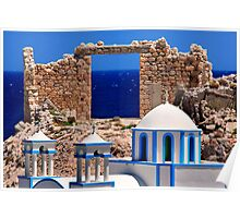 Sacred gate of the Aegean Poster