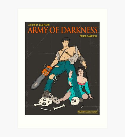 Army Of Darkness Brown Art Print