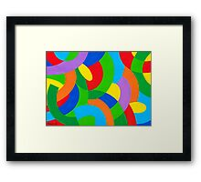 COLORFUL COMPOSITION Framed Print