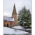 Church in the snow by Susan E. King