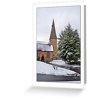 Church in the snow Greeting Card