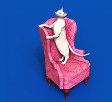 Oriental Cat on Armchair iPad by Roberta Angiolani