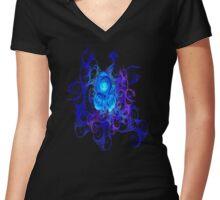 Mystic Roses Women's Fitted V-Neck T-Shirt