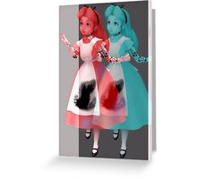 Trippy alice Greeting Card