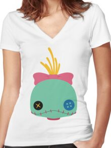 Scrump Women's Fitted V-Neck T-Shirt