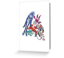 Robot Parade Greeting Card