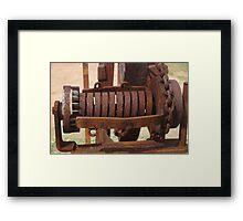 Old farming equipment Framed Print
