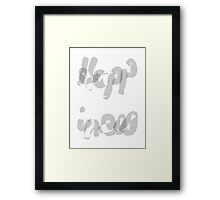 Happiness Calligraphy Art Framed Print