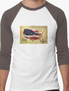 US Map Men's Baseball ¾ T-Shirt