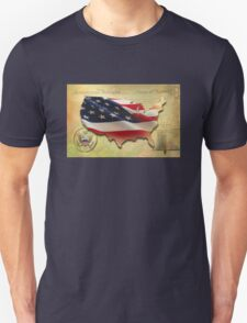 US Map Unisex T-Shirt