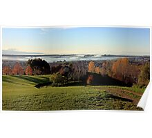 Autumn afternoon over the mudflats Poster