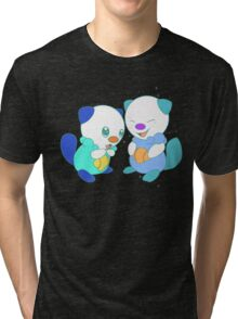 Hey, you look different! ( Oshawott ) Tri-blend T-Shirt