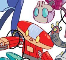 Robot Parade Sticker