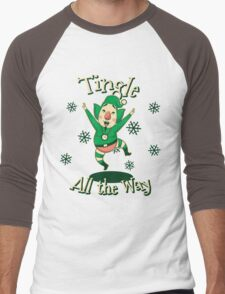 Tingle All the Way Men's Baseball ¾ T-Shirt