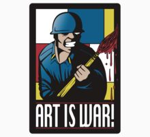Art is War! (STICKER) by mikehandyart
