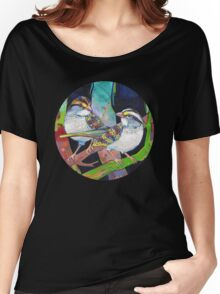 White-throated sparrows painting - 2012 Women's Relaxed Fit T-Shirt