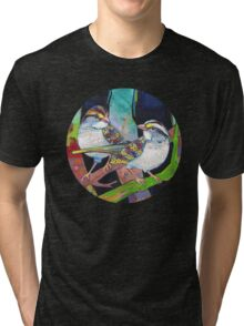 White-throated sparrows Tri-blend T-Shirt