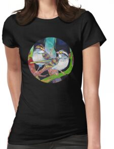 White-throated sparrows Womens Fitted T-Shirt