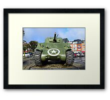 WWII USA Sherman Tank Framed Print