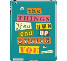 Fight Club Quote  iPad Case/Skin