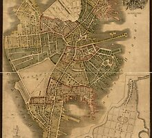 Map of Boston 1814 by caljaysoc
