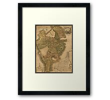 Map of Boston 1814 Framed Print