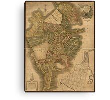 Map of Boston 1814 Canvas Print