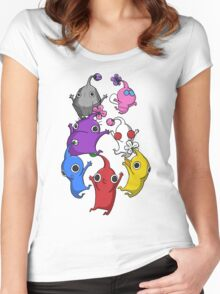 Jumping Pikmin Women's Fitted Scoop T-Shirt