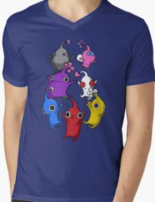 Jumping Pikmin Mens V-Neck T-Shirt