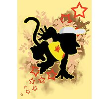 Super Smash Bros. Yellow Diddy Kong Silhouette Photographic Print