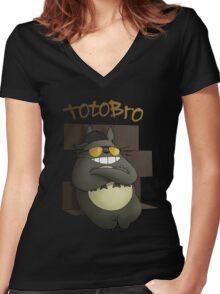 Totobro Women's Fitted V-Neck T-Shirt