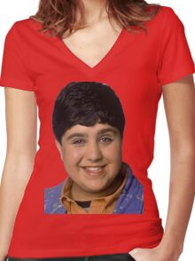 Josh Peck Portrait Women's Fitted V-Neck T-Shirt