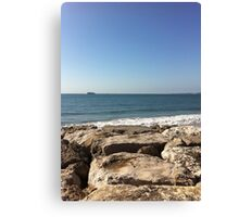 Sky, Water and Rocks Canvas Print