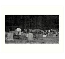 Graves in the Forest Artistic Photograph by Shannon Sears Art Print