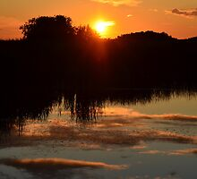 Sunset over the slough by Steve St.Amand