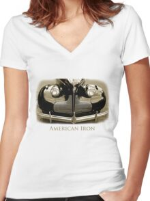 American Iron Women's Fitted V-Neck T-Shirt
