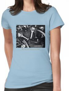 Vincent Black Shadow Womens Fitted T-Shirt