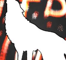 The Big Bad Wolf/white Sticker