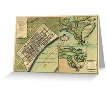 Plan of New Orleans 1759 Greeting Card