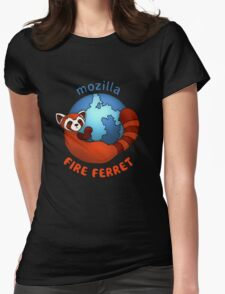 Mozilla Fire Ferret Womens Fitted T-Shirt