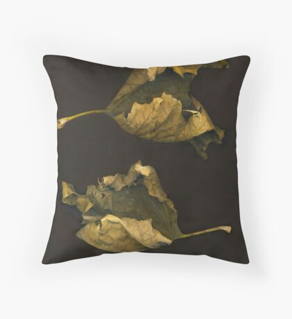 Sycamore Leaves ~Stacked Throw Pillow