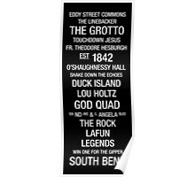 University of Notre Dame: College Town Wall Art Poster