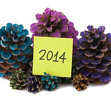 nine pineapples with new year paper by OHphoty