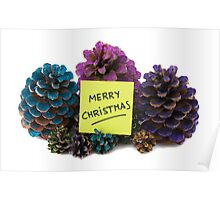 nine pineapples with new year paper Poster