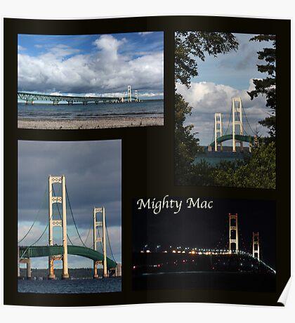 Mackinac Bridge Collage Poster