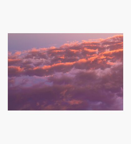 Colorful sky in the evening (orange, pink and purple clouds at sunset) Photographic Print