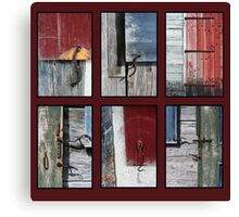 Hardware Red Background Canvas Print