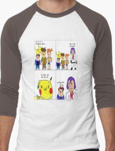 pokemon meme Men's Baseball ¾ T-Shirt